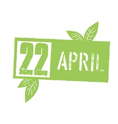 22 April Typographic design for Earth Day Concept vector image