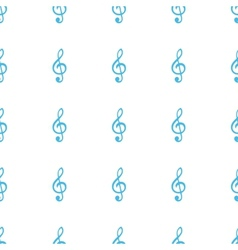 Unique treble clef seamless pattern vector
