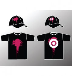 Shirt and cap vector
