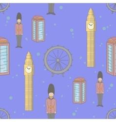 United Kingdom seamless pattern blue color vector image