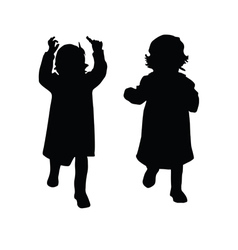 Little girl silhouette vector