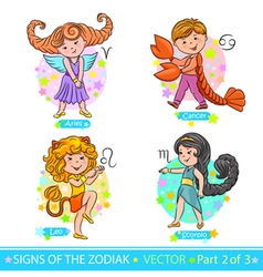 Zodiac signs 2 vector image