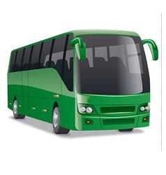 Comfortable city bus vector