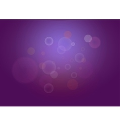 Abstract dark violet bokeh lights with sparkles vector image vector image
