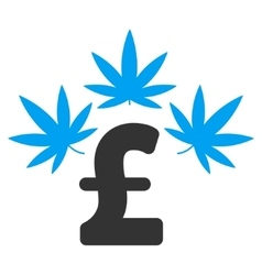 Cannabis Pound Business Flat Icon Symbol vector image
