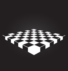 Checkers board vector