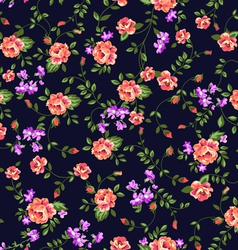 classical roses seamless pattern vector image vector image