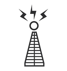 communications antenna icon vector image
