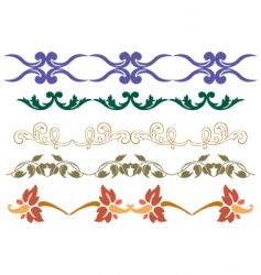 decorative script detailed vector image vector image