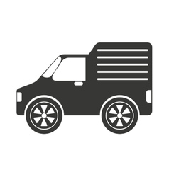 Delivery style car isolated icon design vector