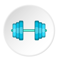 Dumbbell icon flat style vector image