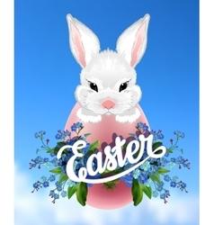 Easter lettering poster vector image