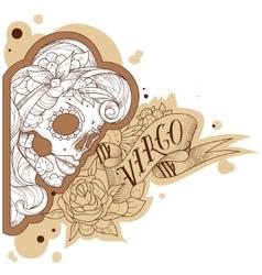 Engraving virgo vector