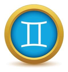 Gold Gemini icon vector image vector image