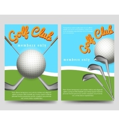 Golf club brochure flyers template vector