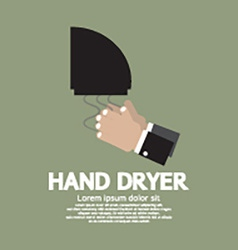 Hand dryer in public toilet vector