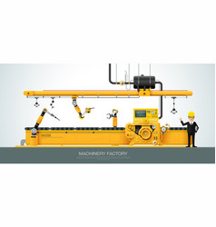 industrial machine factory construction equipment vector image
