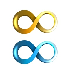 Infinity Icons vector image