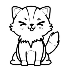 isolated cute standing fox vector image