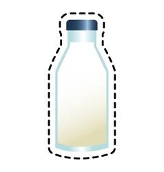 Isolated milk bottle design vector