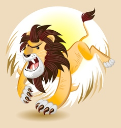 Lion King of Beast vector image