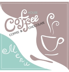 Menu cover for cafe bar coffeehouse vector