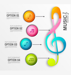 Music infographic design concept vector