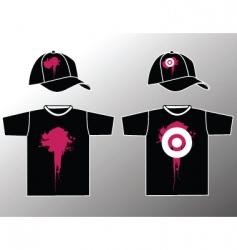 shirt and cap vector image vector image