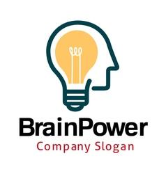Smart brain design vector