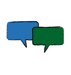 Speech bubbles message communication chat vector