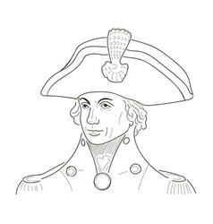 Vice admiral horatio lord nelson sketch vector