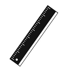 Yardstick icon simple style vector