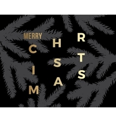 Christmas Greeting Card with Minimalistic Branch vector image
