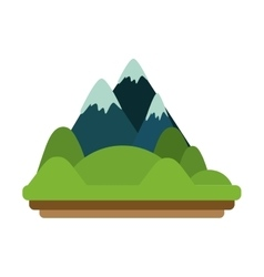Isolated mountain design vector