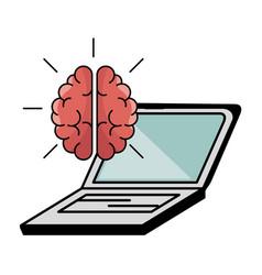 Brain processes design vector