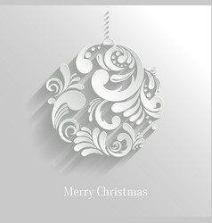 Abstract floral christmas ball vector