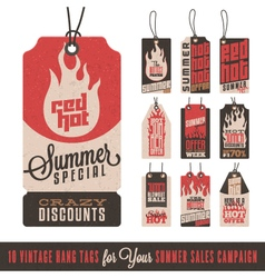 Summer sales hang tags vector