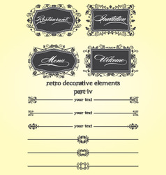 Retro decorative remake iv vector