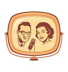 Retro TV talk show vector image