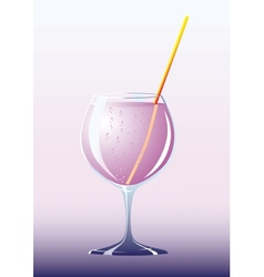Cocktail in high glass vector