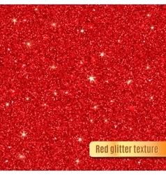 Red glitter texture vector image