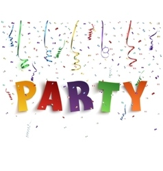 Colorful handmade typeface party vector
