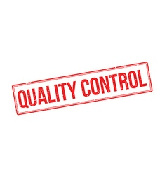 Quality control red rubber stamp on white vector