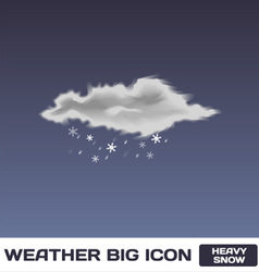 Heavy snow icon vector