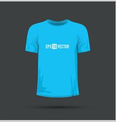 a blue t-shirt vector image
