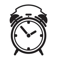 Alarm clock resize vector image vector image