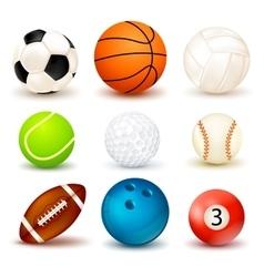 Ball icon set vector