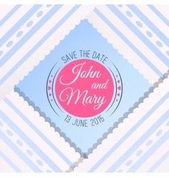 Blue background with vintage realistic pink blue vector image vector image