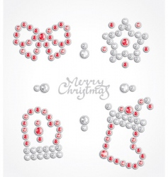 Christmas jeweler icon set vector image vector image