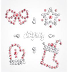 Christmas jeweler icon set vector image vector image